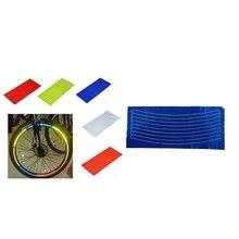 2x велосипедный отражатель флуоресцентный MTB велосипед наклейка велосипедный обод колеса Светоотражающая наклейка s Наклейка аксессуары синий и красный