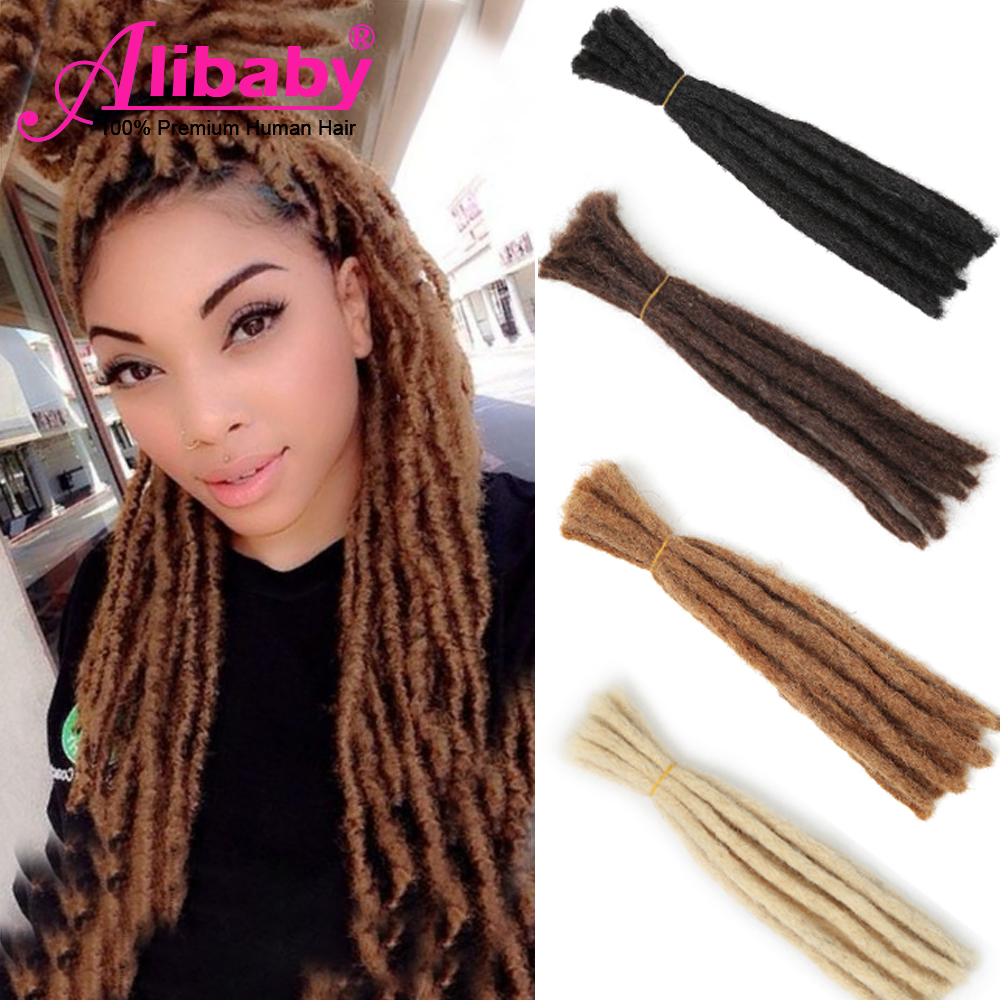 Alibaby Braiding Afro Kinky Human Hair Braids 100% Hand Made Dread Lock Brazilian Human Hair Bundles 6