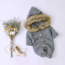 Newborn Baby Rompers Knitted Autumn Boys Girls Long Sleeves