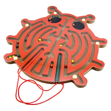 Wooden chafer magnetic maze toy wooden animal intelligence stick parent-child interactive puzzle game