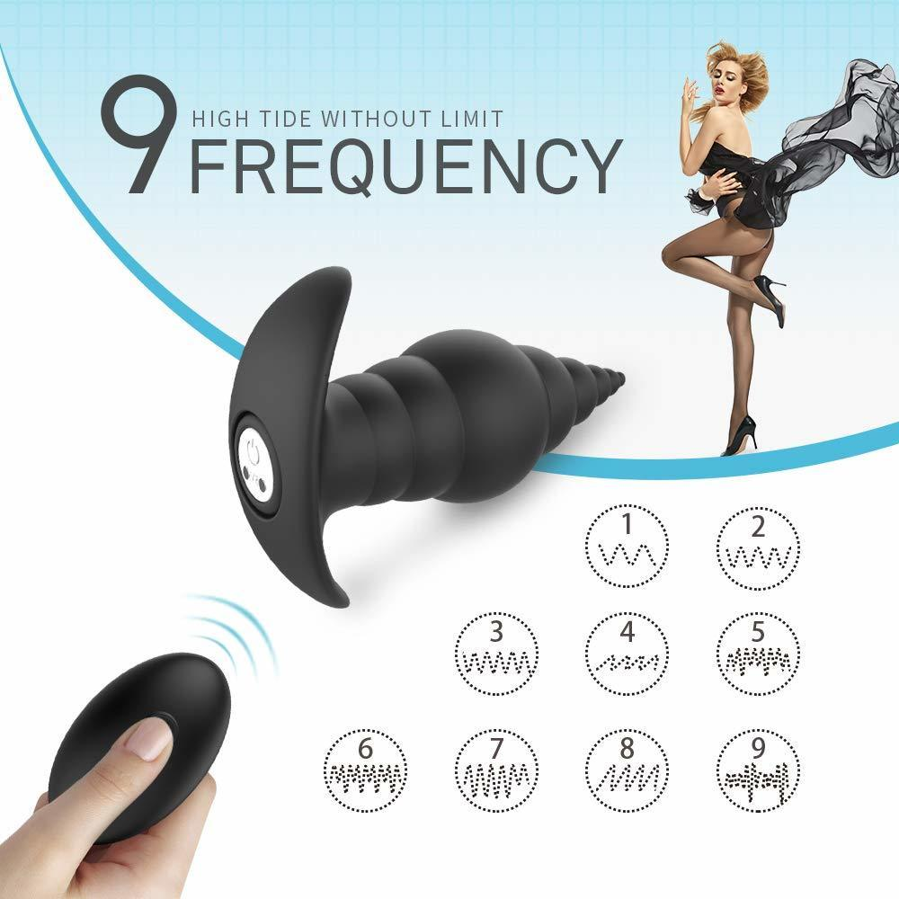 Rechargeable Powerful Butt Plug <font><b>Adult</b></font> <font><b>Vibrating</b></font> Soft <font><b>Anal</b></font> <font><b>Sex</b></font> <font><b>Toy</b></font> With 9 <font><b>Vibration</b></font> Modes Safe Silicone <font><b>For</b></font> man Woman Couples image