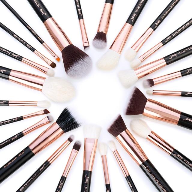 Jessup Rose Gold / Black Makeup brushes set Beauty Foundation Powder Eyeshadow Make up Brush 6pcs-25pcs 4