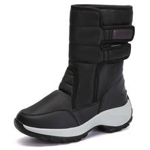 Winter women snow boots warm shoes for female Sturdy Sole Waterproof Plush Mid calf Platform boots women 2019 New Rubber boots snow boots for kids winter shoes rubber boots waterproof unisex mid calf hook