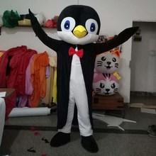 Novità adulte del Costume Della Mascotte Animale Signore Penguins Del Costume Della Mascotte Personaggio Dei Cartoni Animati Mascotte Vestito Operato di Carnevale Outfit