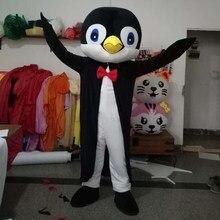 Yetişkin yenilikler hayvan maskot kostüm beyefendi penguenler maskot kostüm karikatür karakter Mascotte süslü elbise karnaval kıyafetler