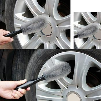 Vehicle Wheel Washing PP Wire Brush Car Truck Motorcycle Tire Rim Cleaning Tool image