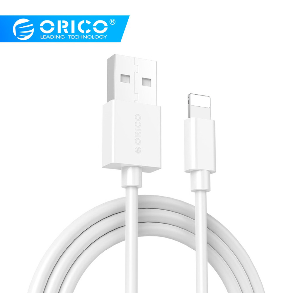 ORICO USB Cables 2A Fast Charging for iPhone XS Max 8 Plus 7 6 6S 5 5S Mobile Phone iPad Data Charging Charger Cord-in Mobile Phone Cables from Cellphones & Telecommunications