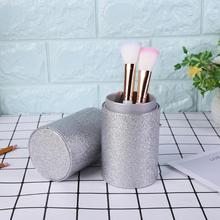 Portable Makeup Brush Holder PU Leather Cosmetic Storage Box Travel Makeup brush cup holder цены