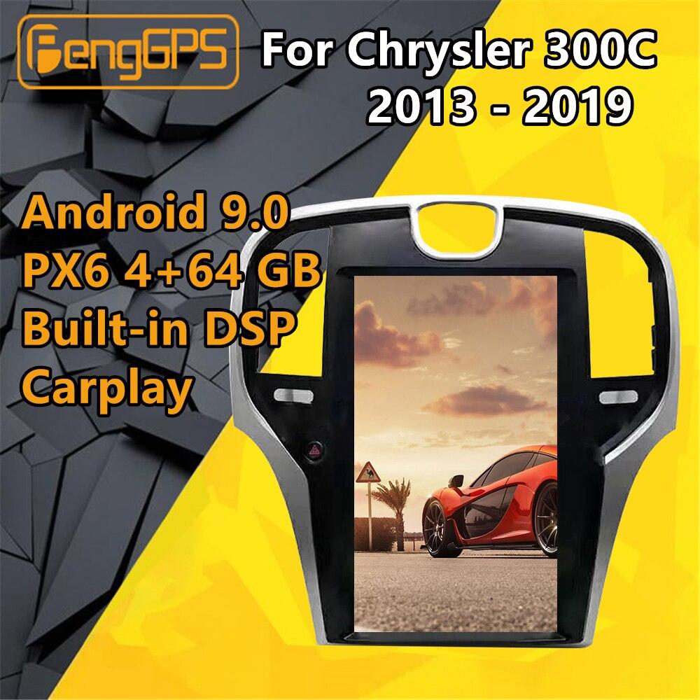 Radio Multimedia con GPS para coche, Radio con reproductor, Android, navegador Navi, estéreo, Cassette, pantalla Tesla, para Chrysler 300C