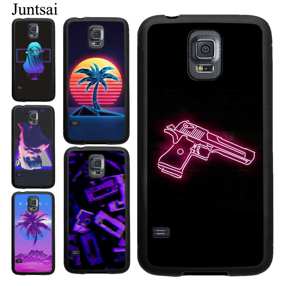 Juntsai de neón vintage arte caso para Samsung Galaxy Nota 10 Plus 8 9 A70 A50 A40 A10 S8 S9 S10 más S7 borde