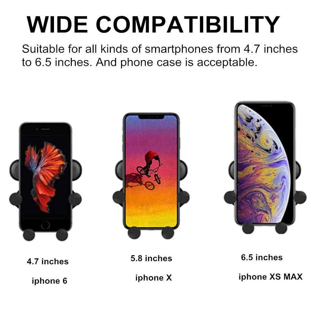 重力自動車電話ホルダーでカーエアコンマウントクリップ S10 iphone XS 最大 Xiaomi 用スタンド Suporte ポルタ celular スマートフォン