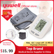 Yuwell 660B Automatic Digital Upper Arm Blood Pressure Monitor Large LCD Cuff Sphygmomanometer Pressure Gauge Meter Tonometer