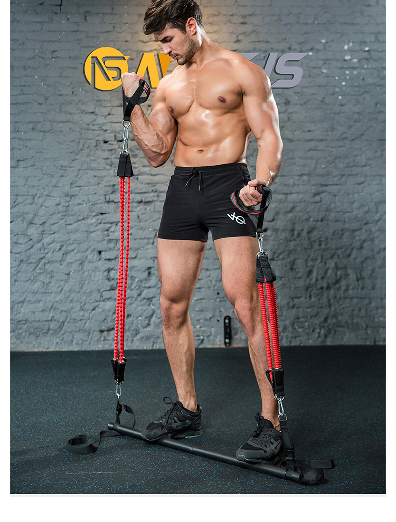 Human - Body Workout Trainer Bar with Resistance Bands