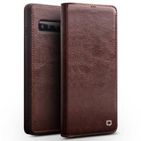 Retro Wallet Card Slot Case for Samsung S8 S9 S10 Plus Case Business Genuine Leather Case For Galaxy Note 8 S7 Edge Cover Capa