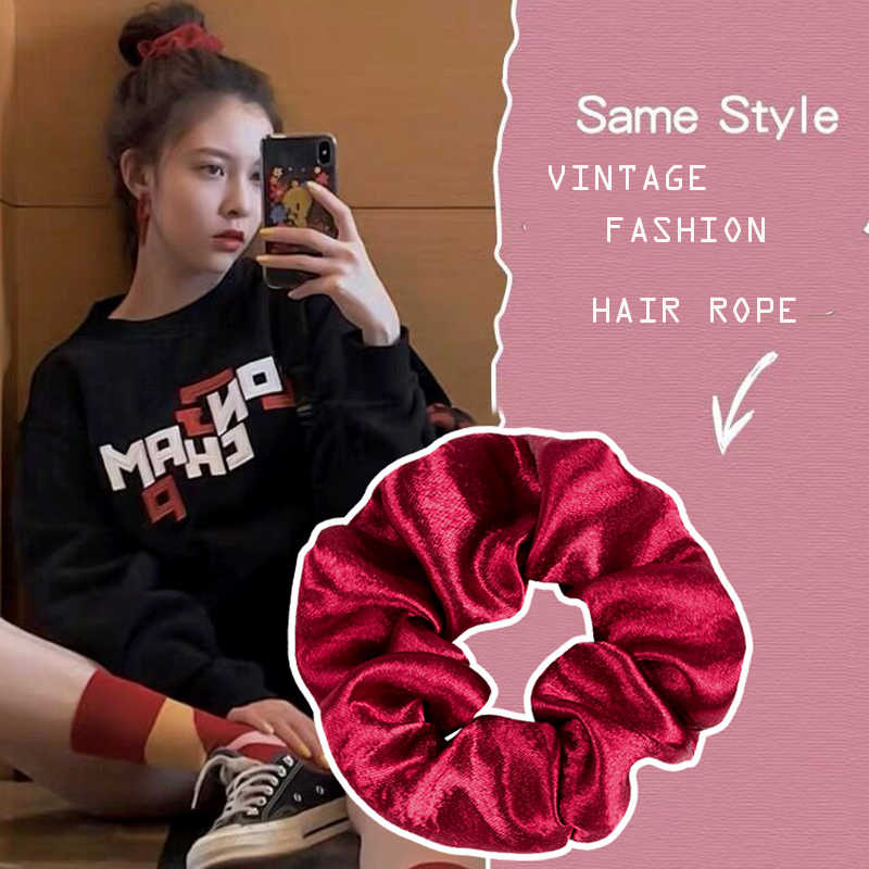 Retro British Style Tied Ponytail Hair Band Hair Rope Female Home Headdress Hair Accessories