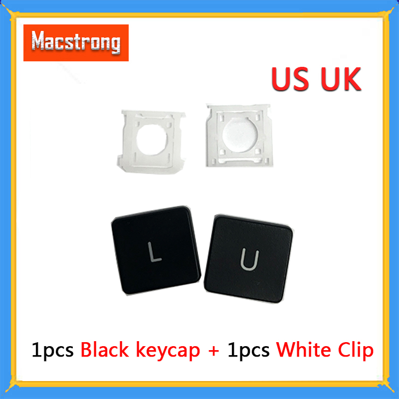 99% New One Black Key With One White Clip Replacement US UK Layout Keycap For Macbook Air A1369 A1466 Key A1398 Keycap AC06 AC07