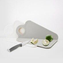 Folding Kitchen Chopping Blocks Foldable Cutting Board Antimicrobial Anti-skid Prep Mat with Non-Slip Feet
