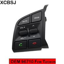 Interruptor de Controle Remoto do Volante À Esquerda para Hyundai Tucson 2016 + TL Bluetooth Botão Interruptor Música 96710D35004X 96710-D3500