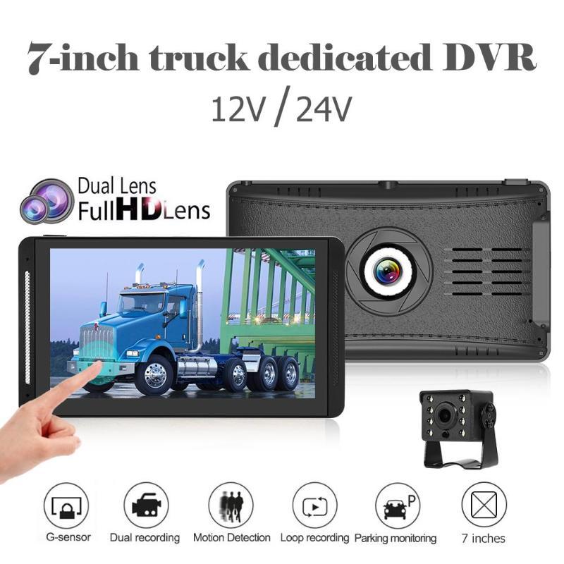 WONVON Dual Lens DVR Car Dash Cam HD 1080P Touch Screen  Camera For Bus Stream Media Rearview Mirror G-sensor Dashcam