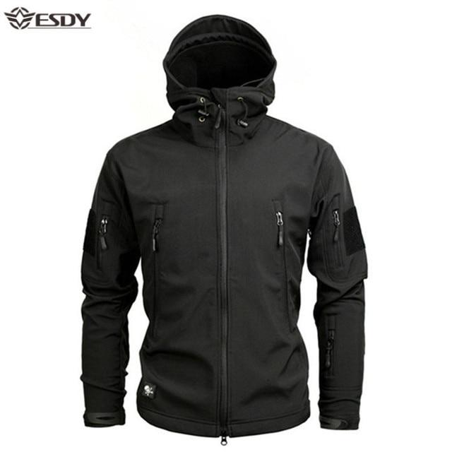 Shark Soft Shell Military Tactical Jacket Men Waterproof Warm Windbreaker US Army Clothing Winter Big Size Men Camouflage Jacket 1