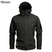 サメソフトシェル軍事戦術ジャケット男性防水暖かいウインドブレーカー米軍服冬のビッグサイズ迷彩ジャケット