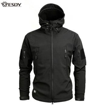 Shark Soft Shell Military Tactical Jacket Men Waterproof Warm Windbreaker US Army Clothing Winter Big Size Men Camouflage Jacket