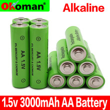 100% New 1.5V Rechargeable AA Battery 3000mah Alkaline Batteries For Clock Toys Flashlight Remote Control Camera battery(China)