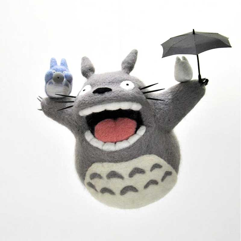 2019 Cartoon Cute Totoro Wool Felting Toy Doll Wool Felt Poked Kitting DIY Package Non-Finished For Women Girls(China)