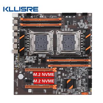 Kllisre X99 podwójny procesor płyta główna LGA 2011 v3 E-ATX USB3 0 SATA3 z podwójnym procesor Xeon z podwójnym gniazdem M 2 tanie i dobre opinie Usb 2 0 Usb 3 0 Pci-e 3 0 Pci-express X16 Intel X99 LGA 2011-3 Ddr4 Pulpit CN (pochodzenie) SATA3 0 Podwójne Niezintegrowanych