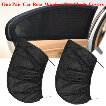 2Pcs 100*52cm Universal Auto Car Side Window Sunshades Curtain UV Protection Mesh Solar Mosquito Dust Protect Baby Child Shield image
