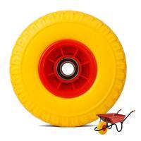 Rodas de carrinho de mão jardim carro rodízio amarelo rodas pneumáticas quintal resistente 150kg rueda carretilla roda do trole brouette|null| |  -