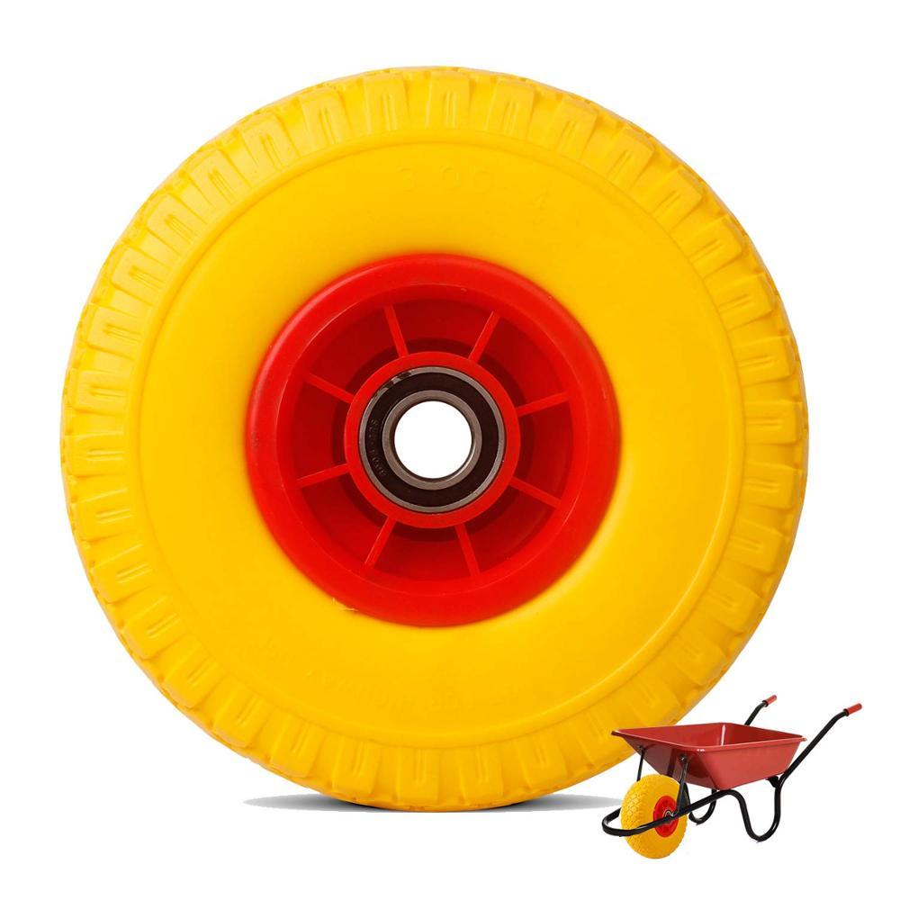 Wheelbarrow Wheels Garden Car Caster Yellow Pneumatic Wheels Yard Heavy Duty 150kg Rueda Carretilla Roue Brouette  Trolley Wheel