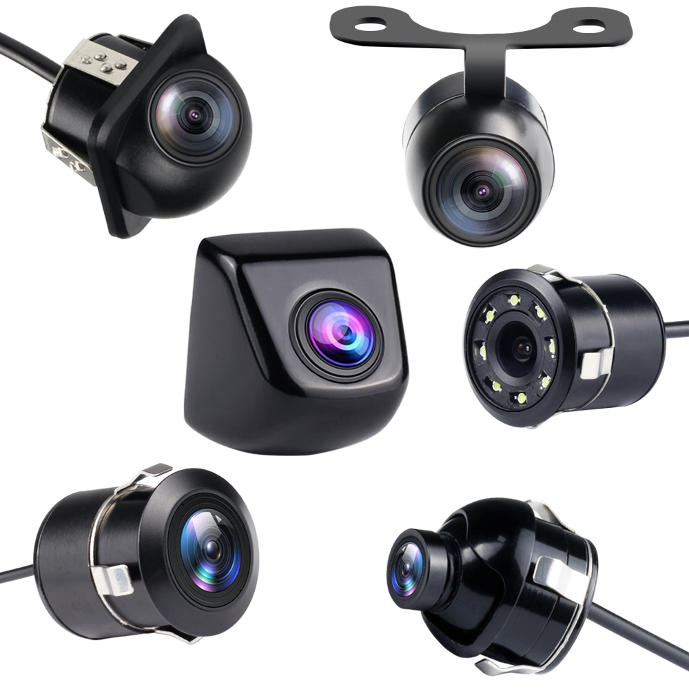 Free Shipping Car Rear View Camera 8 LED Night Vision Reversing Auto Parking Monitor CCD Waterproof 170 Degree HD Video