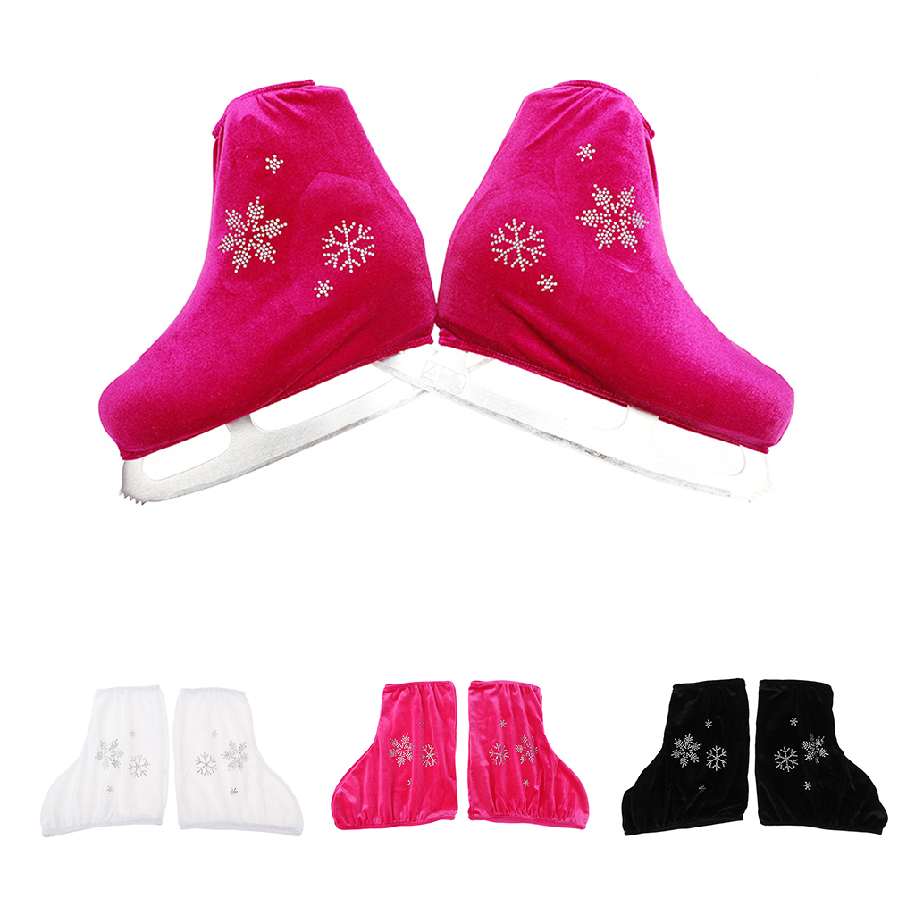 1 Pair Durable Elastic Unisex Ice Figure Skate Boots Cover Protector S-XXL