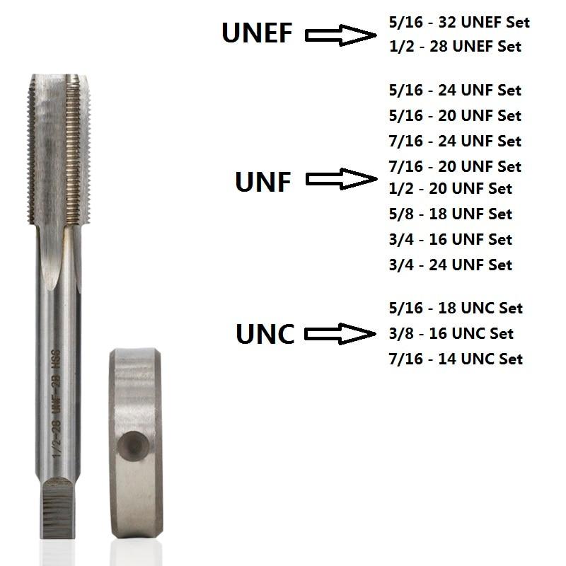 1pc HSS Machine 5//16-18 UNC Plug Tap and 1pc 5//16-18 UNC Die Threading Tool