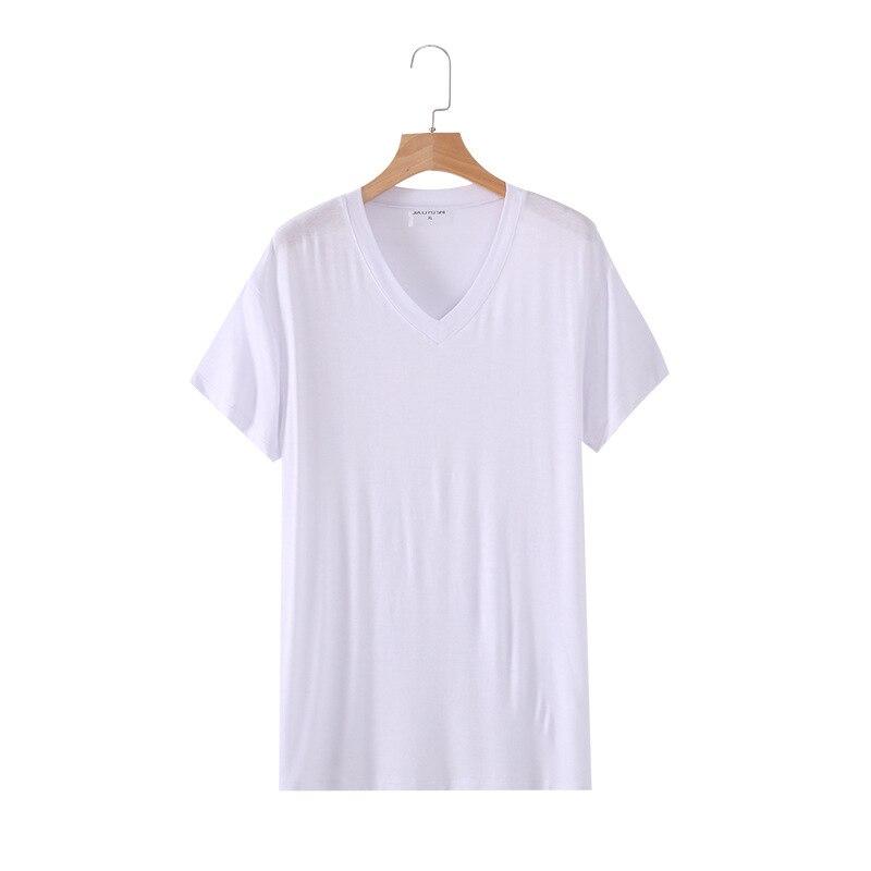 Plus Size Men Pajama Modal Soft Sleepwear Short Sleeves Top Pajama Top Man Casual Soild Thin Summer Homewear Leisure Sleep Tops