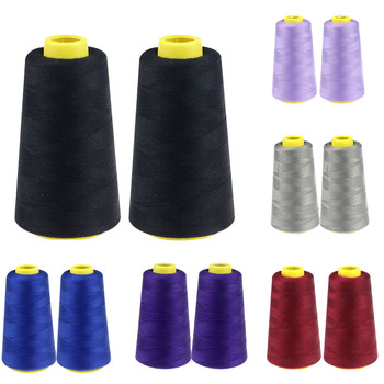 3000M Sewing Threads Strong and Durable Yards Overlocking Sewing Machine Industrial Polyester Thread Metre Cones image