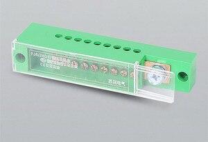Image 5 - Boîte de jonction unipolaire pour armoire de dosage, bornier de fils, plastique ignifuge avec couvercle, accessoires électriques