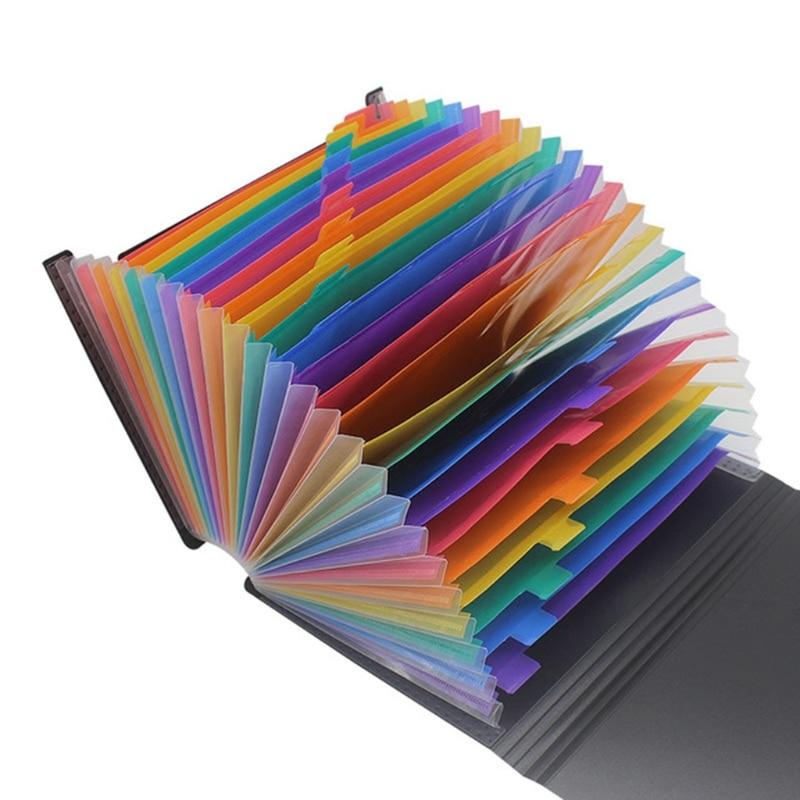 13/24/36/48/60/72 Pockets Classified File Folder Telescopic Standing A4 Organizer Extension Folder Desktop Storage Rack School S