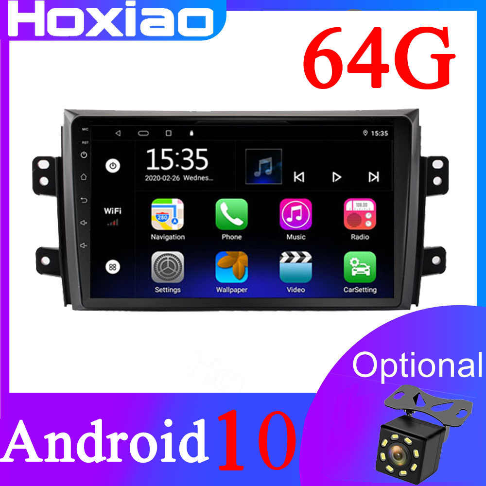 2 DIN Android GPS untuk Suzuki SX4 2006 2007 2008 2009 2009 2009 2009 2010 2011 2012 2017 2Din Mobil 8 Core Tape Radio Akses Internet Nirkabel Stereo Bt
