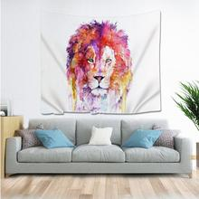 Natural Animal Lion Cat pineapple Tapestry Hippie Mandala Wall Hanging Bedroom Polyester Travel Camping Psychedelic Tablecloth natural animal deer flamingo tapestry hippie mandala wall hanging bedroom polyester travel camping psychedelic tablecloth