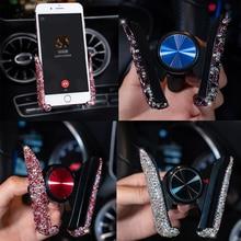 1 sztuk samochodów uniwersalny do nawiewu kryształ uchwyt na telefon dla Xiaomi Pocophone F1 Huawei dla BMW uchwyt do otworu wentylacyjnego komórkowy stojak na telefon