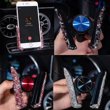 Support universel de téléphone portable en cristal, 1 pièce pour voiture, pour Xiaomi Pocophone F1 Huawei, fixation sur grille de ventilation