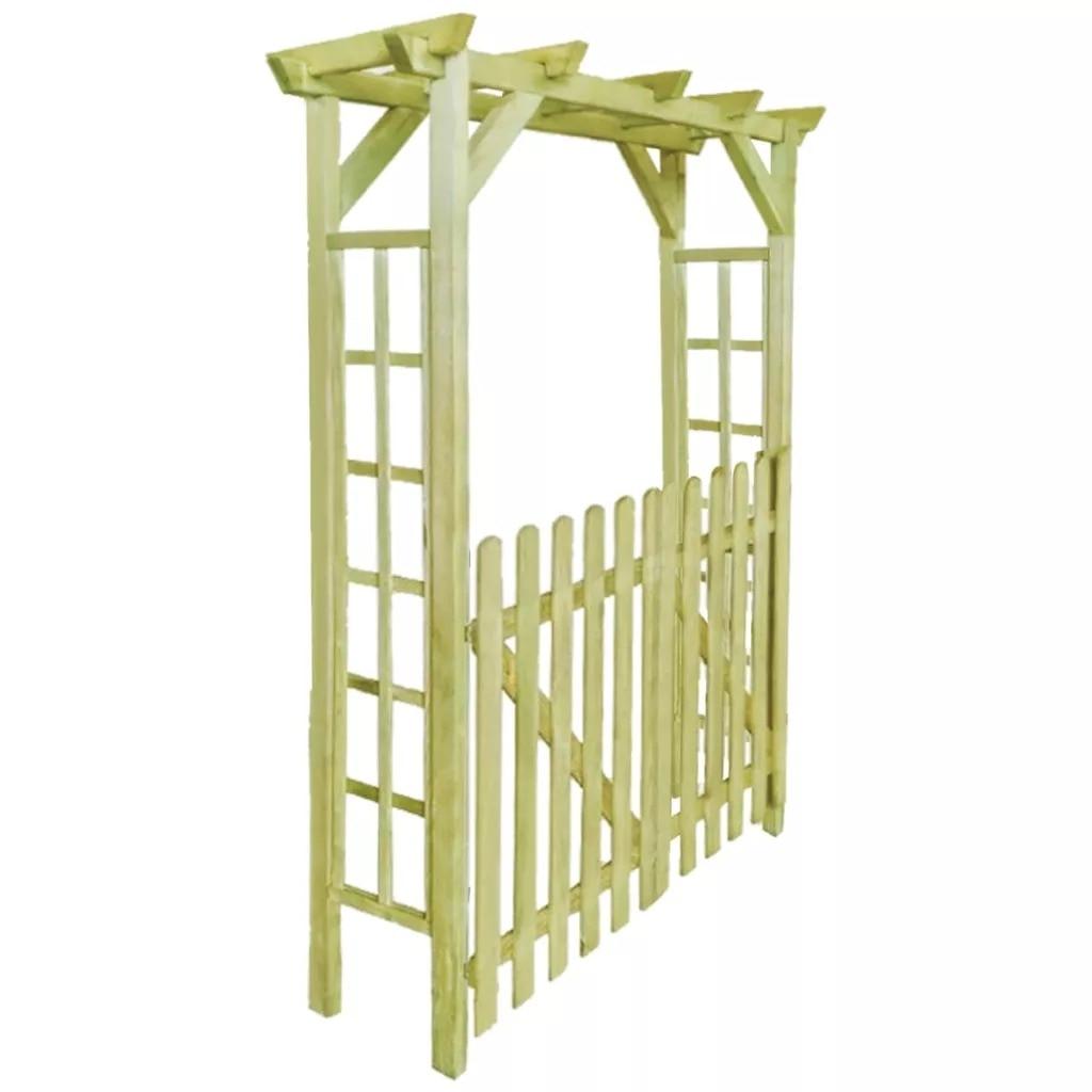VidaXL Rot-Resistant Garden Rose Arch 150x50x200 Cm FSC Impregnated Wood 150 X 50 X 200 Cm (L X W X H)