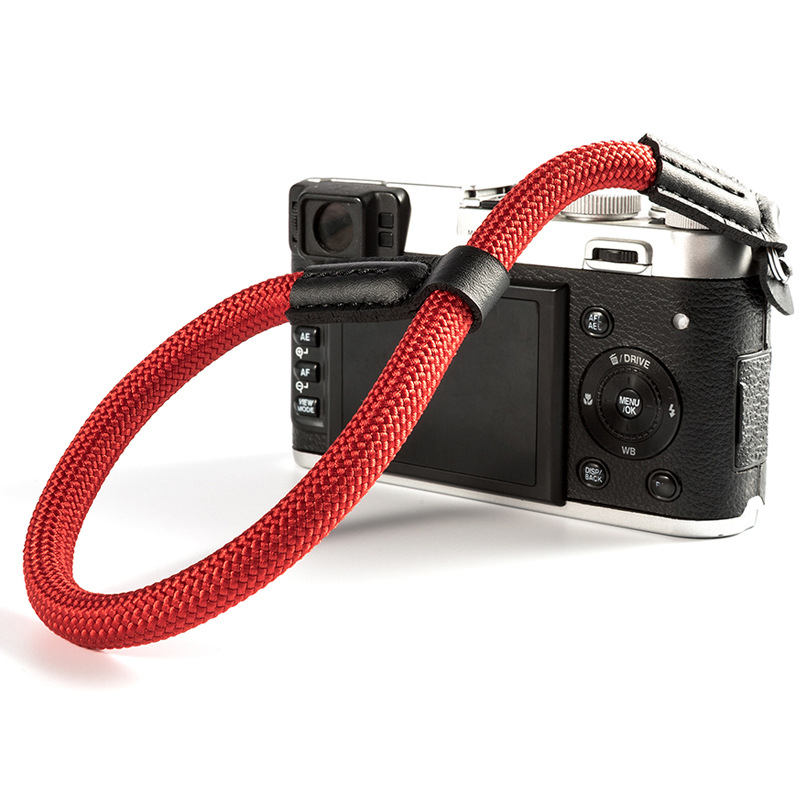 Camera Strap Handmade nylon Digital Camera Wrist Hand Strap Grip Paracord Braided Wristband for Fuji X-T20 T30 X-T1 X-T2 X-E3 image