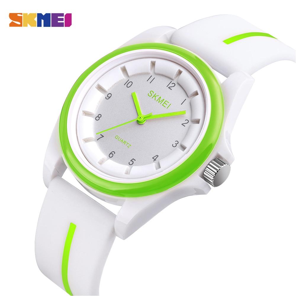 Дети часы мода бренд SKMEI ребенок часы водонепроницаемый спорт кварц часы люкс браслет девочка и мальчик часы платье наручные часы