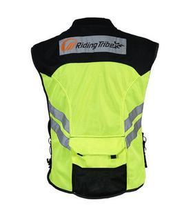 Image 4 - أحدث دراجة نارية ملابس سلامة عاكسة تعكس سباق واقية سترة الرؤية موتور الأمن القماش
