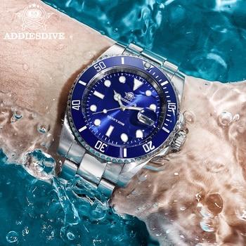 1986 Leather For Men NATO Nylon Steel diving watch 200m C3Super luminous Sport luxury stainless steel watch  Quartz Men's Watch 2