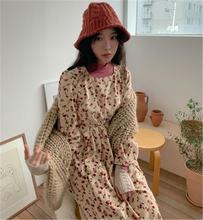Женское Повседневное платье шикарные вельветовые платья в Корейском