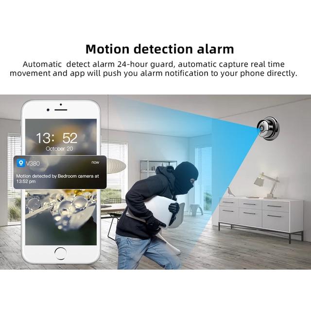 SDETER 1080P Wireless Mini WiFi Camera Home Security Camera IP CCTV Surveillance IR Night Vision Motion Detect Baby Monitor P2P 1